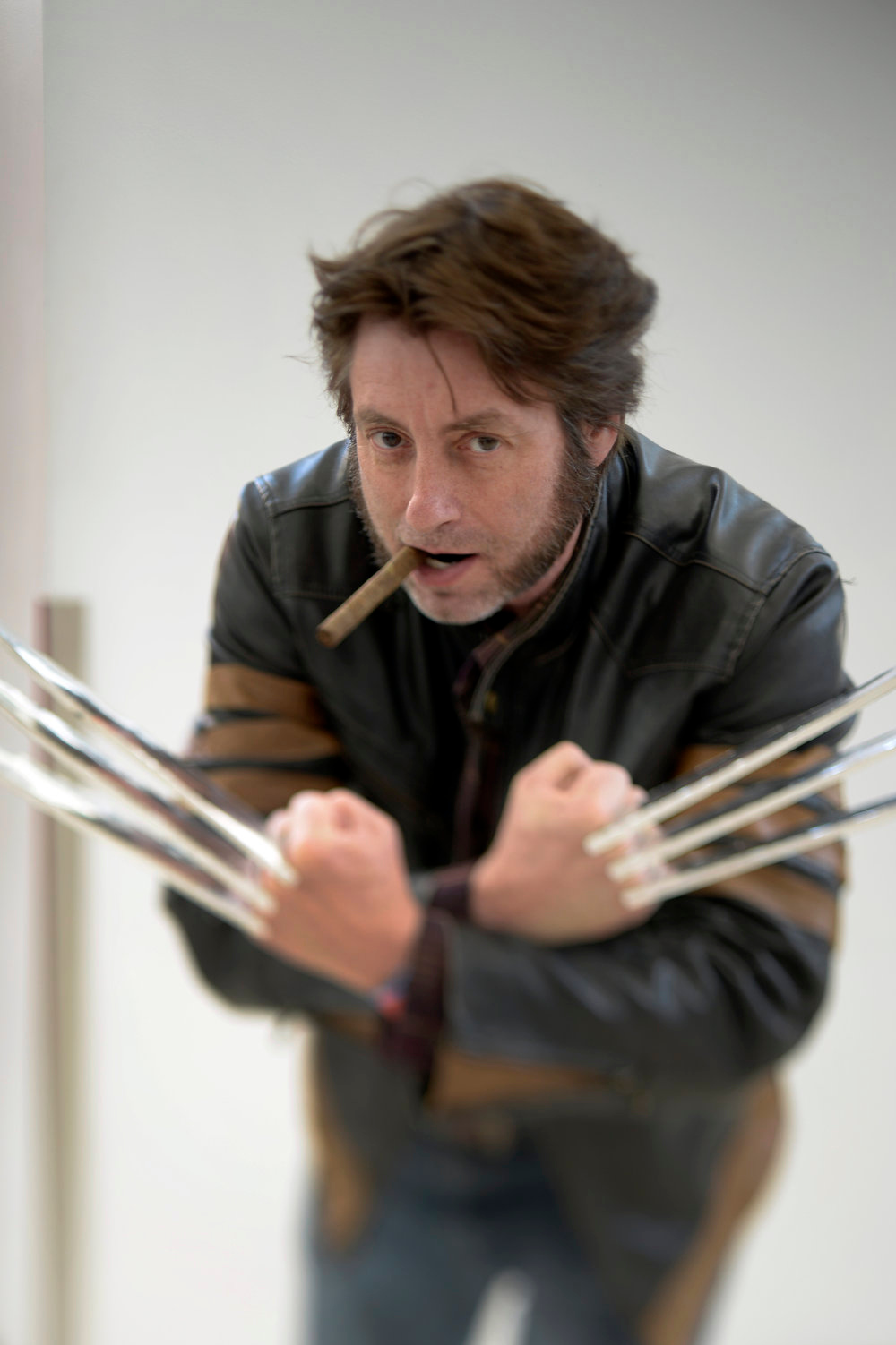. Dave Stephenson 52-years-old of Highlands Ranch poses as Wolverine as he attends the Denver Comic Con June 2, 2013 at the Colorado Convention Center. The Convention brought in more than 45,000 for the three day weekend. (Photo By John Leyba/The Denver Post)