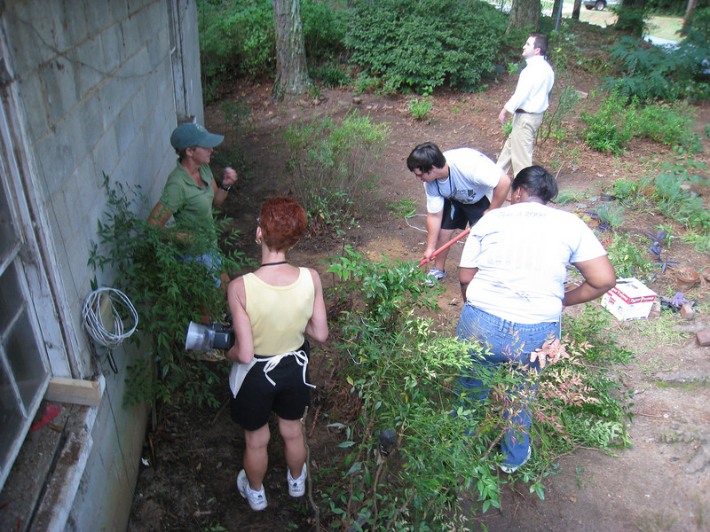 Landscaping work begins.  lcf