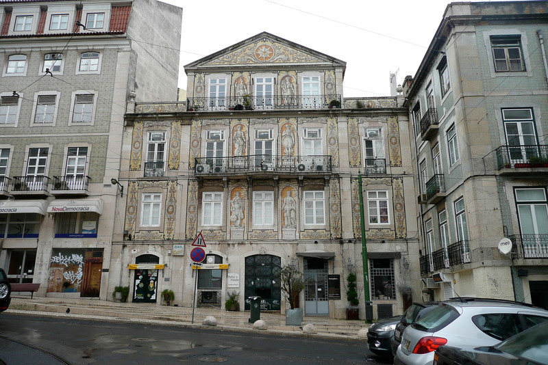 Allegories of Science, Agricolture, Industry, and Commerce. Bairro Alto, Lisbon