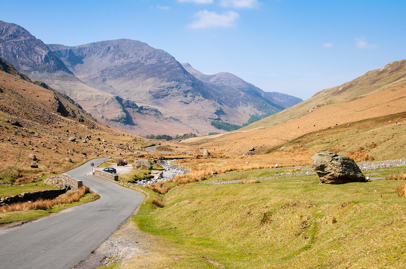 Honister Pass road