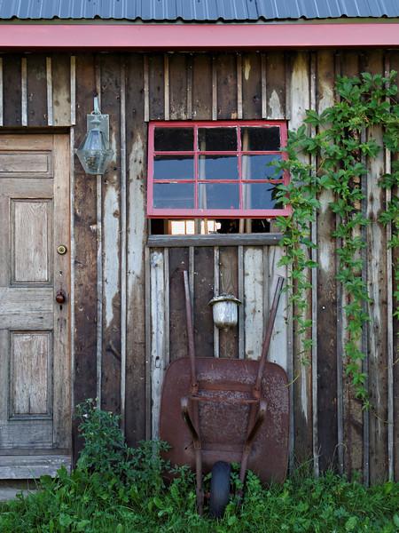 Marnie shot--Back shed at the B&B