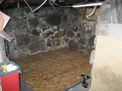 Basement Paint Room