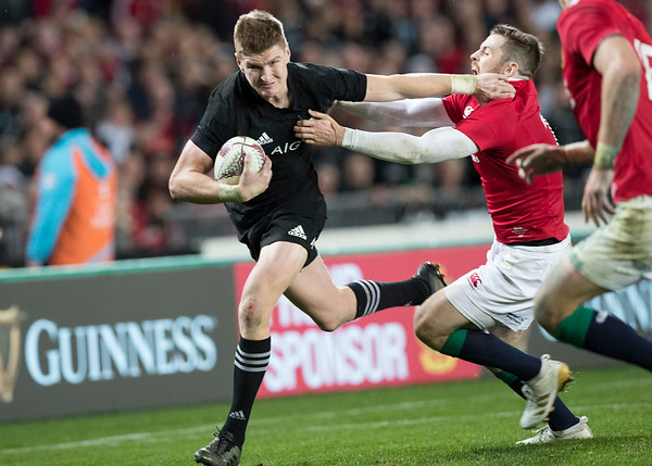 Jordie Barrett  during game 10 of the British and Irish Lions 2017 Tour of New Zealand, the third Test match between  The All Blacks and British and Irish Lions, Eden Park, Auckland, Saturday 8th July 2017 (Photo by Kevin Booth Steve Haag Sports)  Images for social media must have consent from Steve Haag