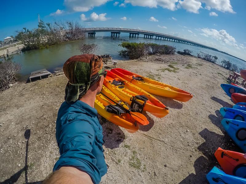 David Stock kayaking in Big Pine Key, Florida