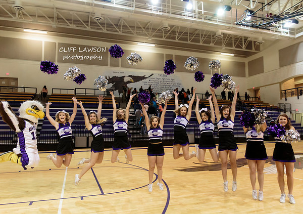 Cheerleaders Canyon boys vs Dumas