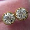 2.23ctw Old European Cut Diamond Stud Earrings 8