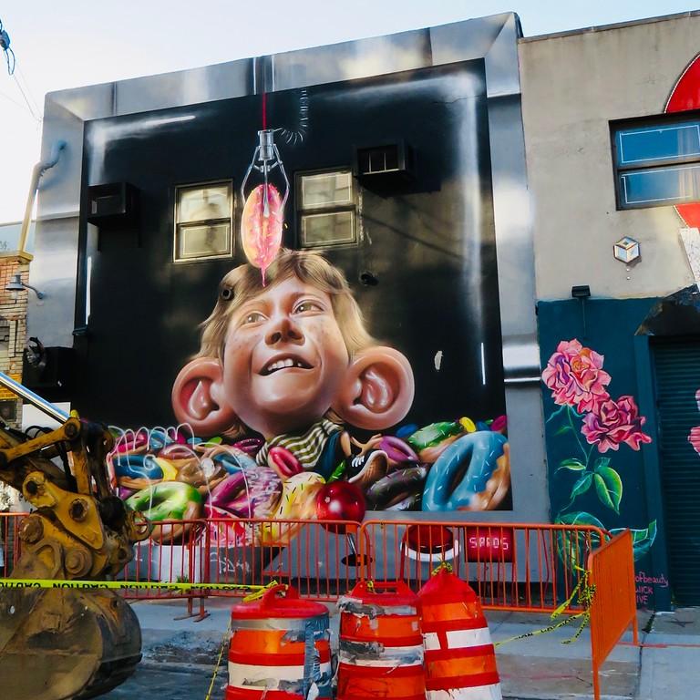 sipros sipros big ears donut street art mural bushwick brooklyn