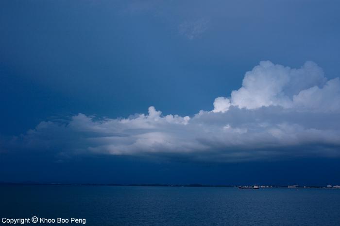 Rain clouds at sea