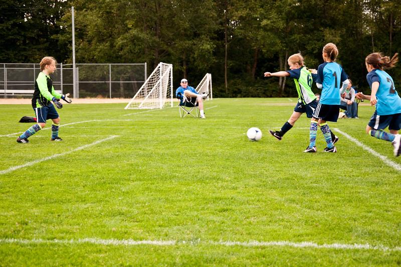2012.09 - Soccer match vs. TB Stewart Blue Lightning - first goal attempt!