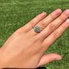 2.48ctw Yellow-Green Round Brilliant Diamond Cluster Ring 24
