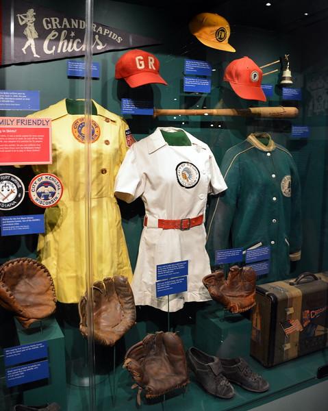 """Diamond Dreams"" display at  the National Baseball Hall of Fame & Museum"