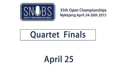 2015-0425 SNOBS -Quartet Finals