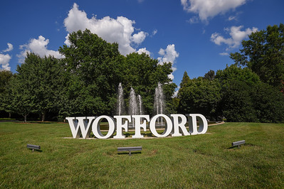 Campus Wofford Sign Fountain 07-28-20