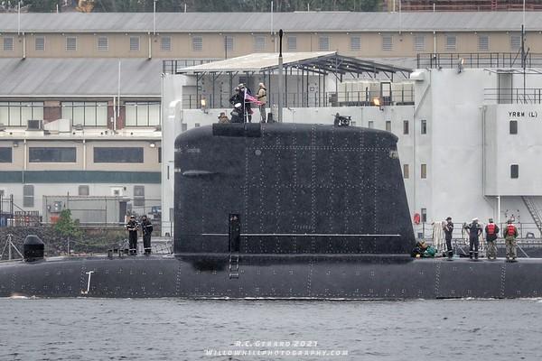 French Navy Submarine Améthyste