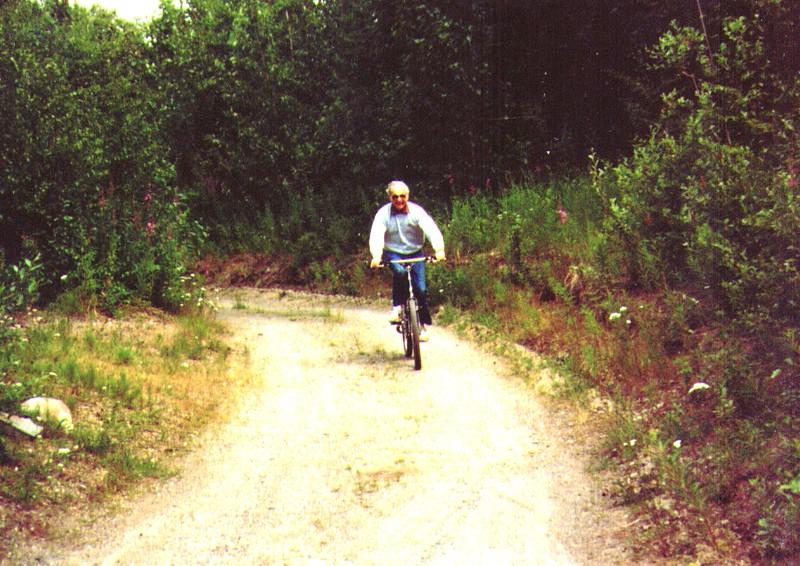 Wayne on Dave's Mountain Bike, Nikiski, July 1988 -2.jpg