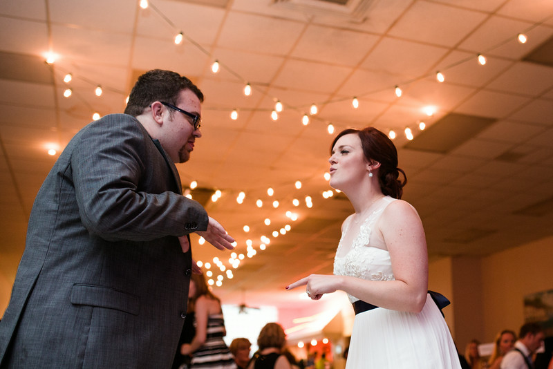 Reception and dancing at the Verdi Club in Downtown Rockford IL by Mindy Joy Photography