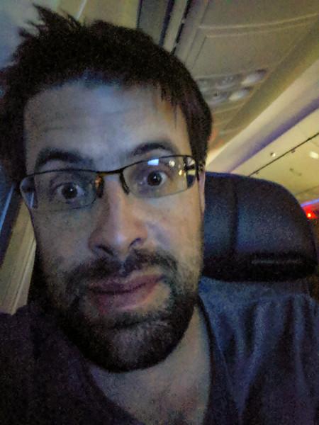 On my SFO-PDX flight. So tired!