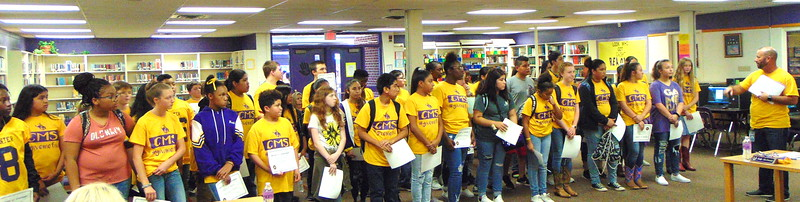 Center ISD Board of Trustees recognizes outstanding Center Middle School students