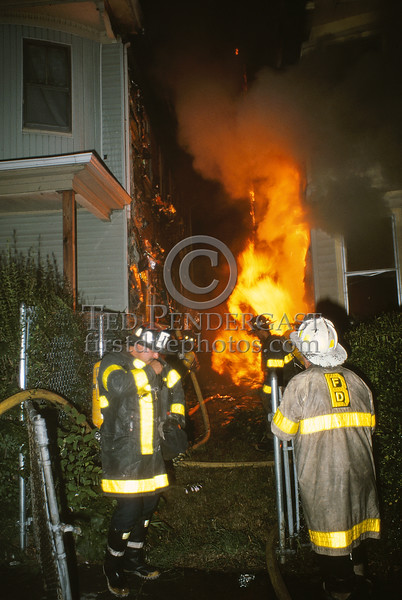 July 10,1987 - Boston,MA - 2 Alarms for a basement fire in a house on Harvard Ave