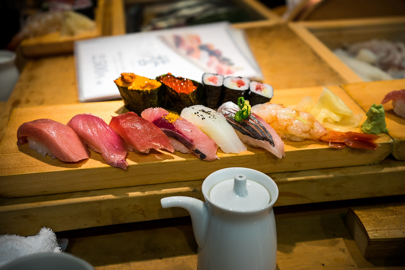 Sushi from Tsukiji Fish Market