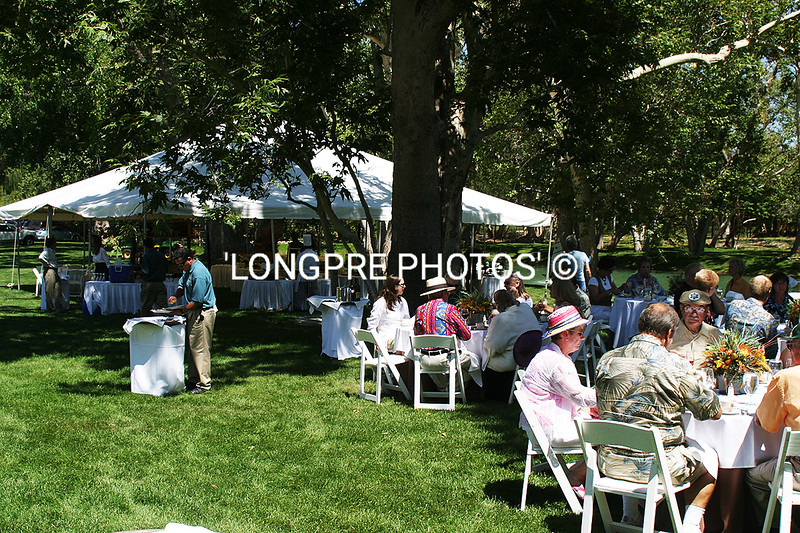 TABLE SEATING on lawn.