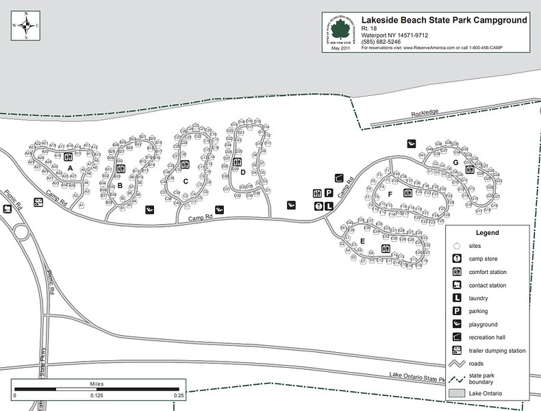 Lakeside Beach State Park (Campground Map)