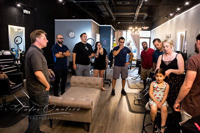 Father/daughter class at Parlor three one five salon