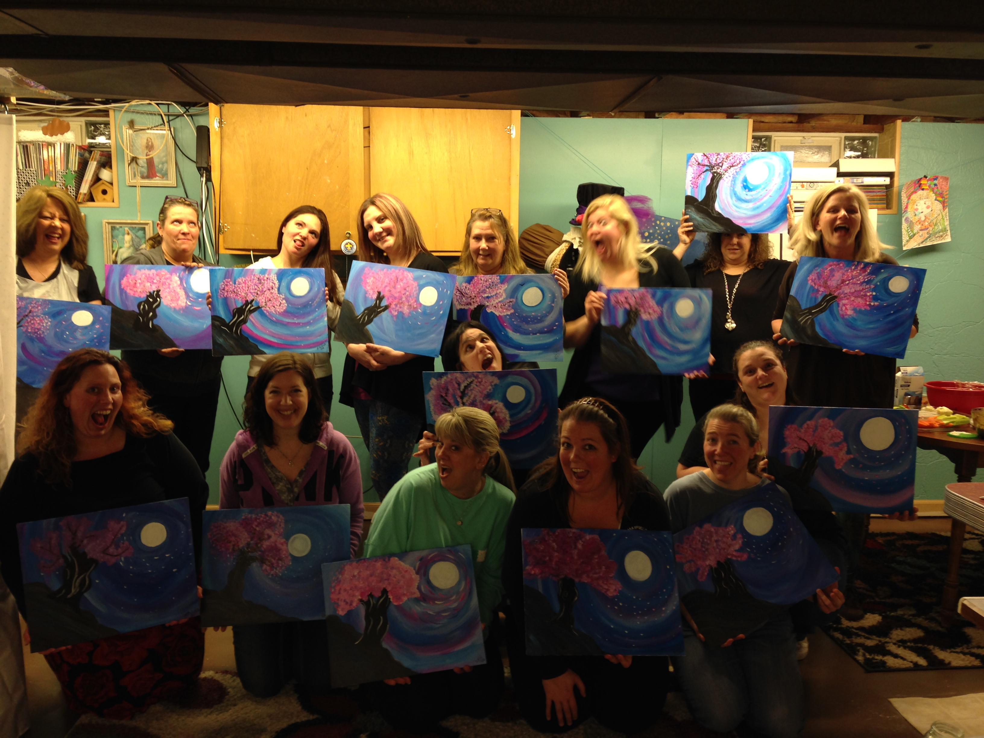Suzanne Funk painting party 2/20/16
