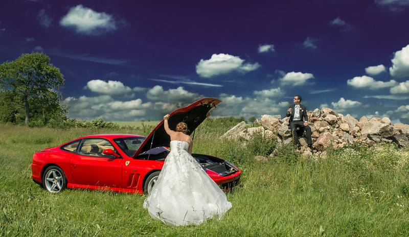E & G a car mechanic and her man