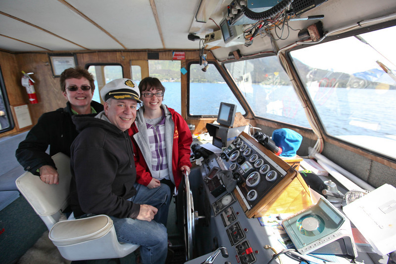 Tracy, Bob & Stephanie on eagle-watching cruise