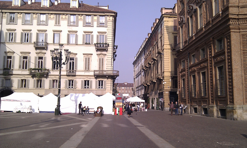 View looking down one of the streets in Turin during our half day exploring