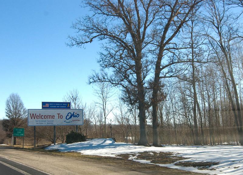 RoadTrip-17 : Welcome to Ohio, all highways were 65mph speed and I got my speeding ticket. Money making scam.