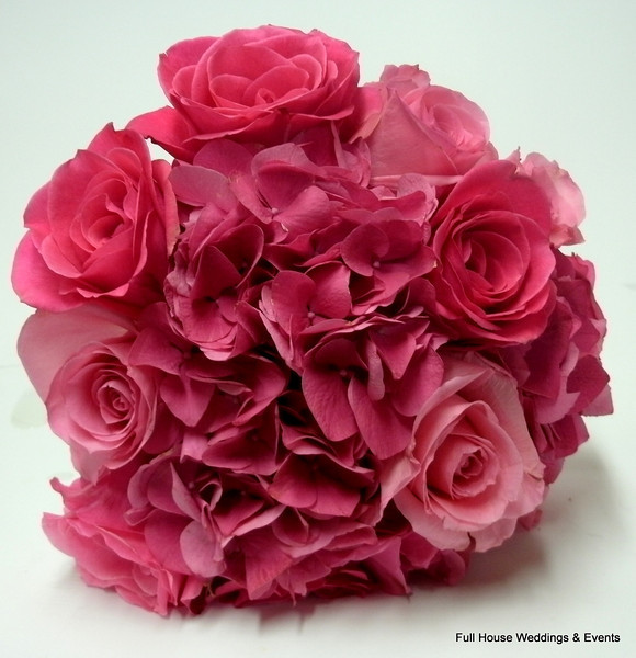 Bouquet - Pink rose and hydrangea bouquet