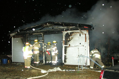 12-09-09 Conesville FD Garage Fire