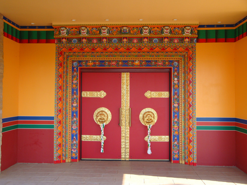 The main entrance to the temple.