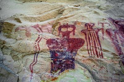 Sego Canyon Petroglyphs and pictographs
