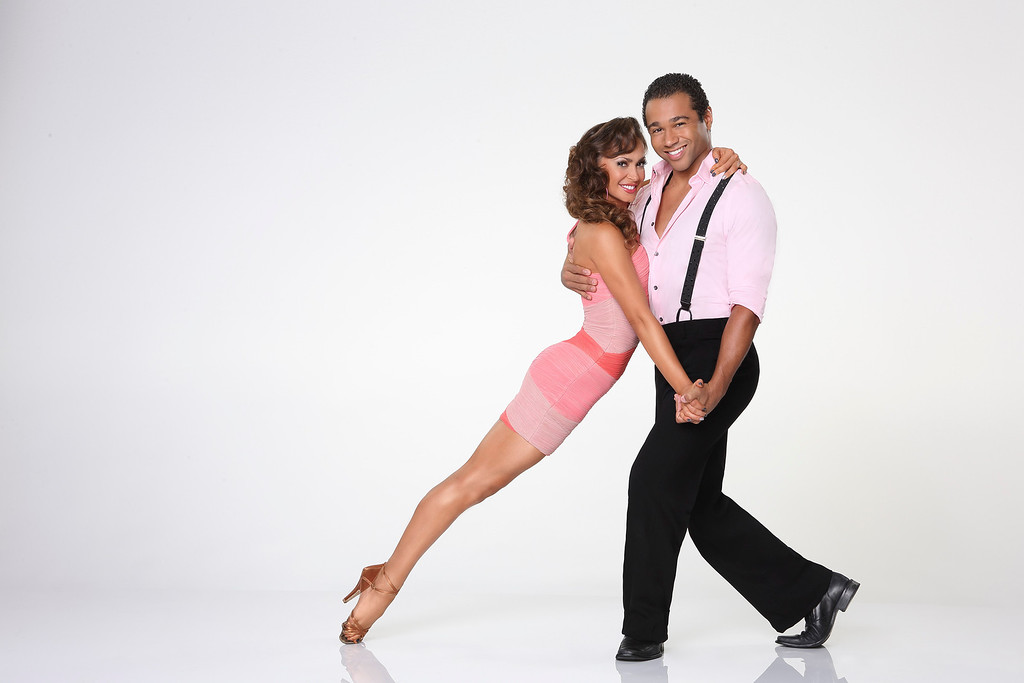 """. DANCING WITH THE STARS - KARINA SMIRNOFF & CORBIN BLEU - Corbin Bleu partners with Karina Smirnoff. \""""Dancing with the Stars\"""" returns for Season 17 on MONDAY, SEPTEMBER 16 (8:00-10:01 p.m., ET), on the ABC Television Network. (ABC/Craig Sjodin)"""