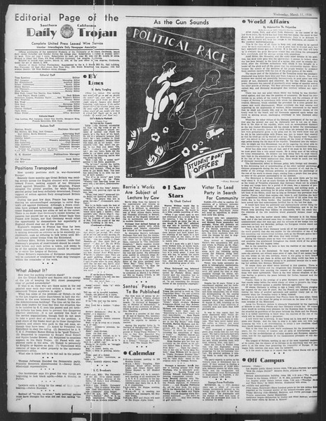 Daily Trojan, Vol. 27, No. 96, March 11, 1936