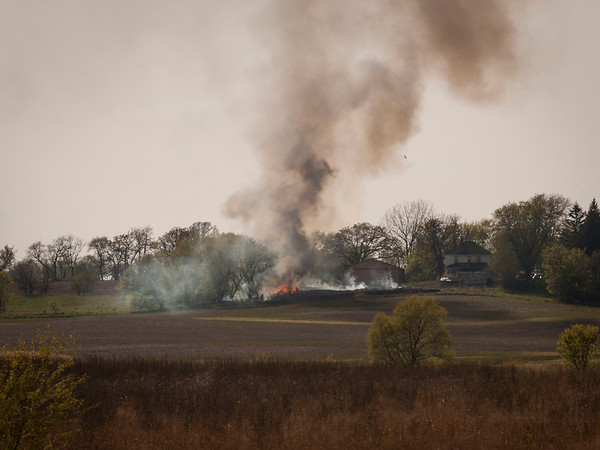 Pingree Grove/Hampshire Barn & Building fire - April 12, 2012