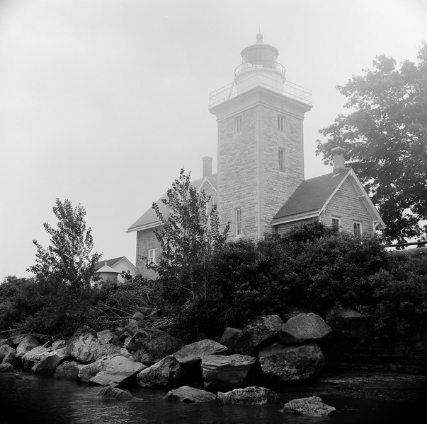 Thirty Mile Point Lighthouse, Golden Hill State Park, NY. July 1997