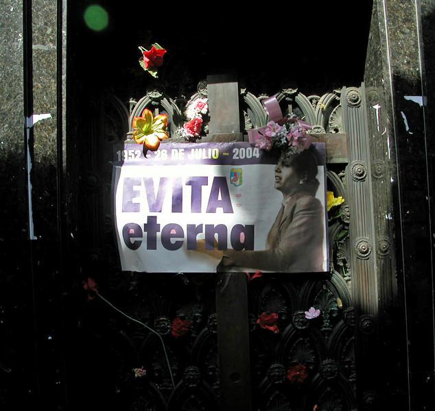 Argentina, Buenos Aires, grave of Eva Peron