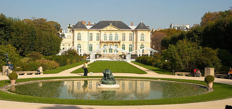 Inside the grounds of the Rodin Museum.