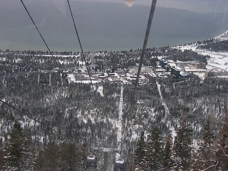 South Lake Tahoe as seen from the Heavenly Gondola