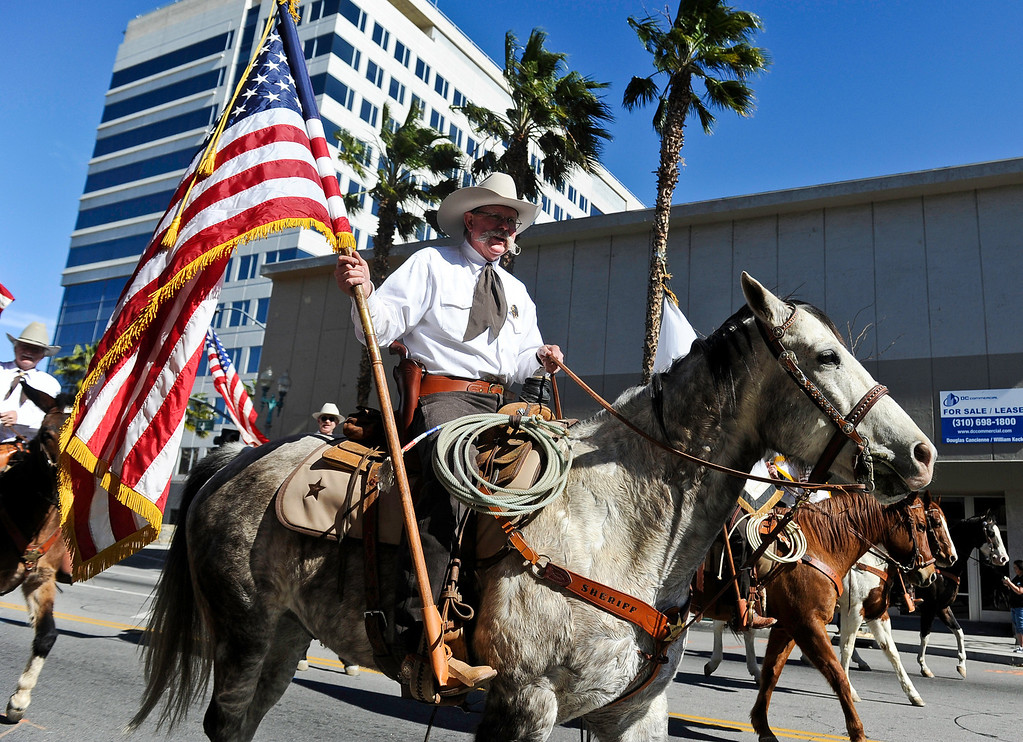 . The San Bernardino Black Culture Foundation holds its 43 annual Black History Parade in downtown San Bernardino on Saturday, Feb. 4, 2012.  (Staff file photo/The Sun)
