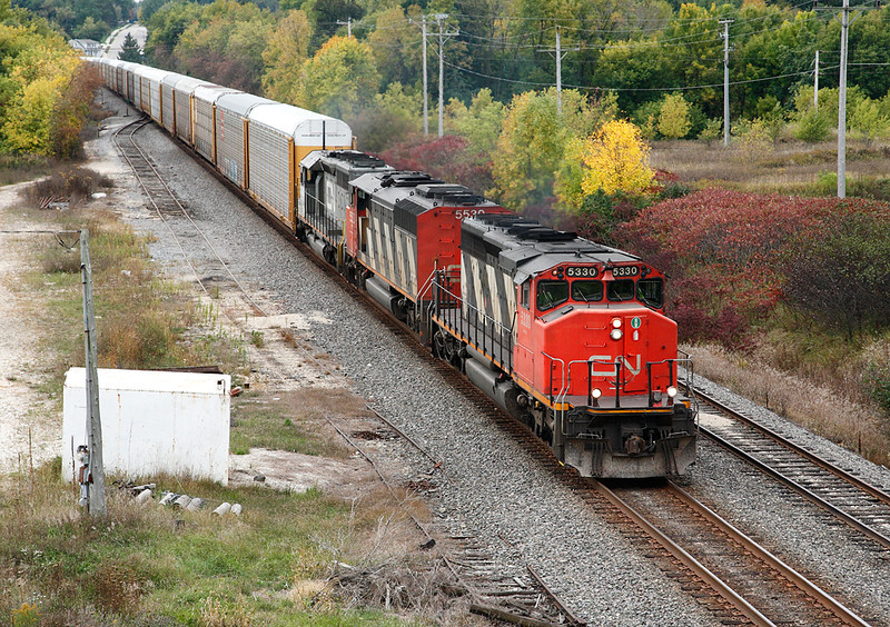 Candadian National 5330 (GMD SD40-2W) - Slinger, WI