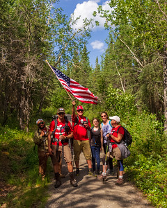 20180707, Team RWB OGR Hike up Mt Healy Overlook in Denali NP&P