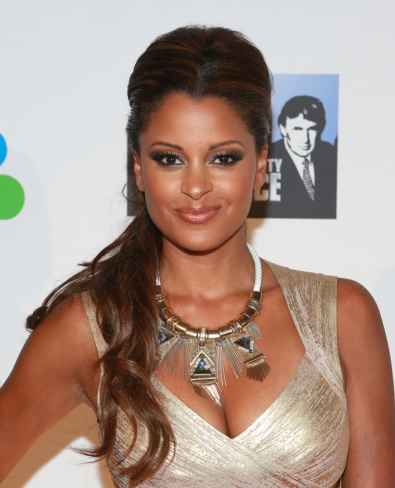 ". Actress Claudia Jordan attends ""All Star Celebrity Apprentice\"" Finale at Cipriani 42nd Street on May 19, 2013 in New York City.  (Photo by Robin Marchant/Getty Images)"