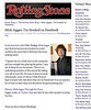 NEW YORK, NY:   Mick Jagger-I'm Hooked on Facebook - The Rolling Stone Blog (20111024), (Photo by Steve Mack/S.D. Mack Pictures)