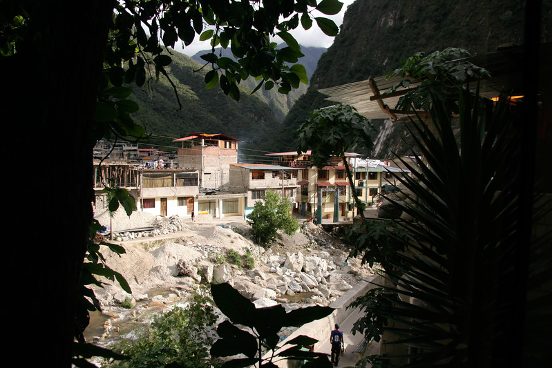 A view from my room in at Wiracocha Inn in Aguas Calientes at the base of Machu Picchu.