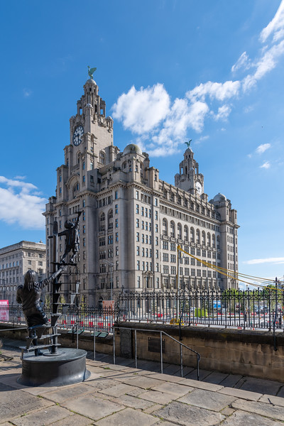 Blitz Memorial and Royal Liver Building, Liverpool
